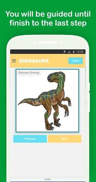 Easy Dinosaurs Drawing Tutorial Step by Step screenshot 3