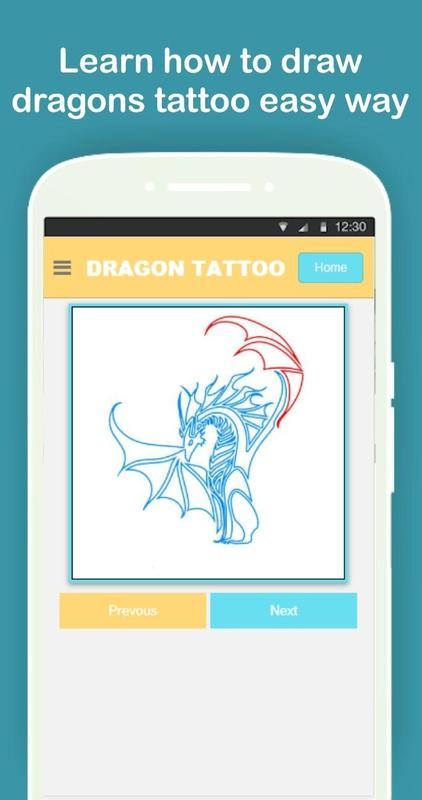 How To Draw Dragon Tattoo Step By Step For Android Apk Download