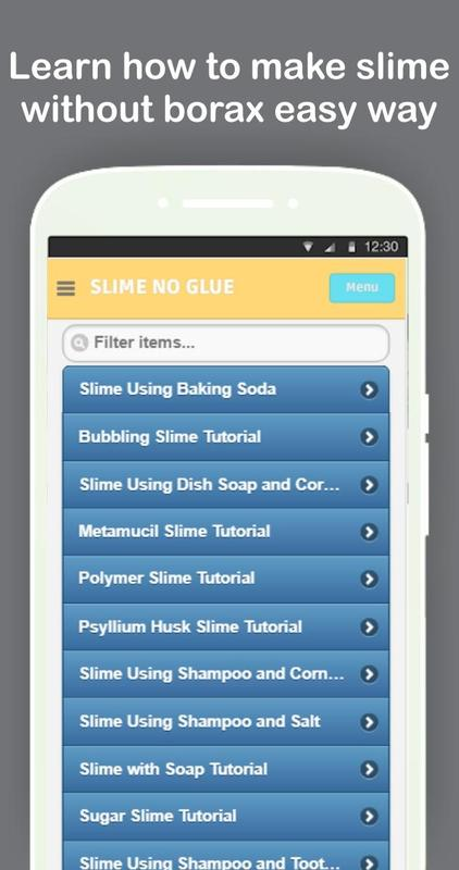 ... DIY Slime Without Glue or Borax Tutorials Offline screenshot 3 ...