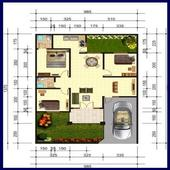 House Plan Minimalist icon