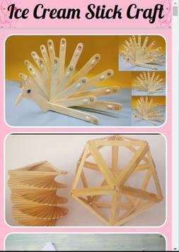 Ice Cream Stick Craft poster
