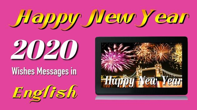 Happy New Year Wishes Cards & Messages 2020 poster