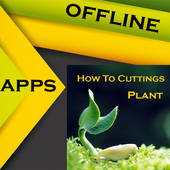 How to cuttings plants icon