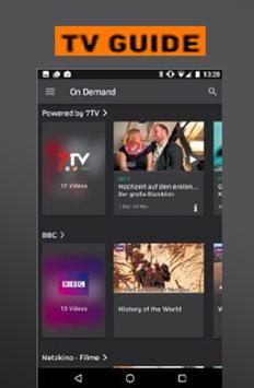 New Zattoo TV App Live Television HD Stream Hints screenshot 2