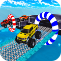 Impossible Monster Truck Stunts: Mountain Climb