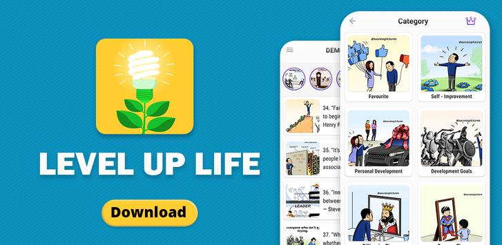 Level Up Life, Personal Development, Motivation captura de pantalla 7