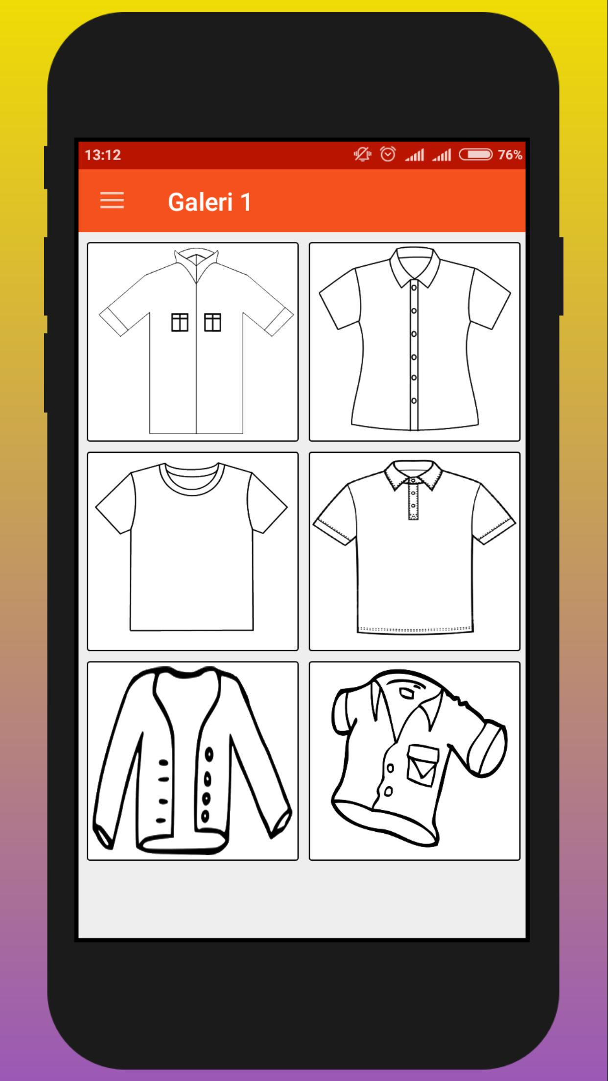 Clothes Coloring Book Mewarnai Pakaian For Android APK