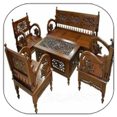 Wood Carving Chair Design icon