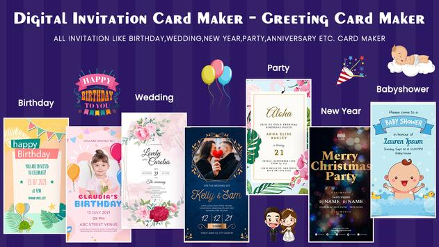 Digital Invitation Card Maker-Greeting Card Maker poster