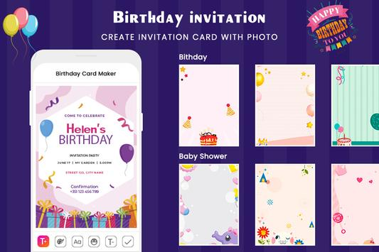 Digital Invitation Card Maker-Greeting Card Maker screenshot 2