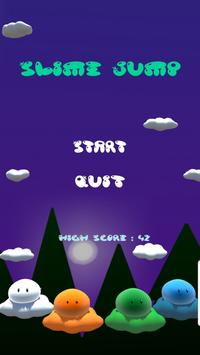 Slime jump - endless runner poster