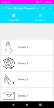 Coloring Beauty Cosmetics poster