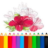 Coloring Flower icon
