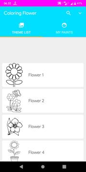 Coloring Flower poster