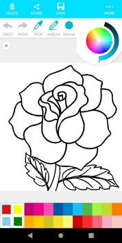 Coloring Flower screenshot 17