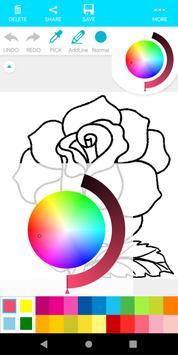 Coloring Flower screenshot 18