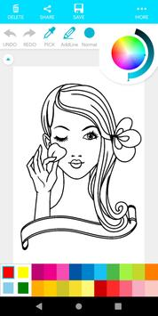 Coloring Makeup Beauty screenshot 3