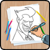 كيفية رسم الكرتون والكاريكاتير أيقونة