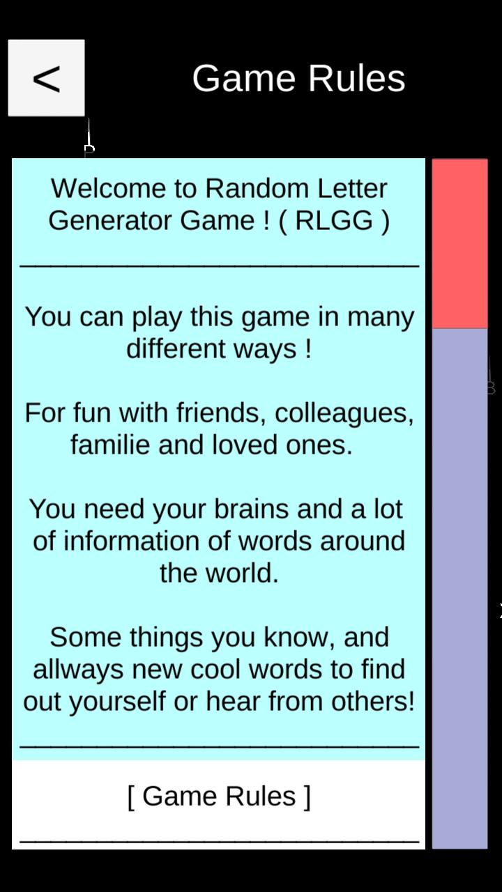 Random Letter Generator Game for Android - APK Download