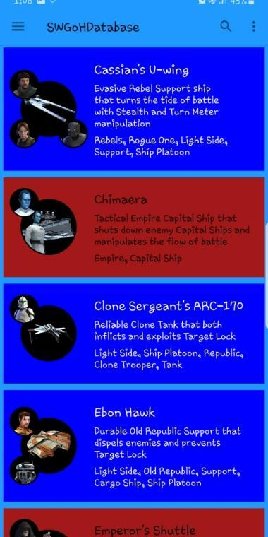 Events and Toon Database for SWGoH for Android - APK Download