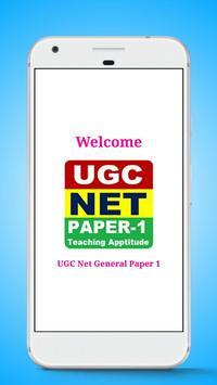 UGC Net General Paper 1 poster
