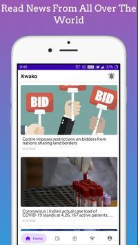 Kwako - Read News And Earn Points screenshot 1