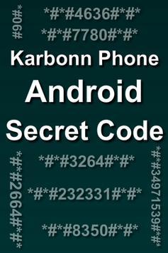Mobiles Secret Codes of KARBONN poster