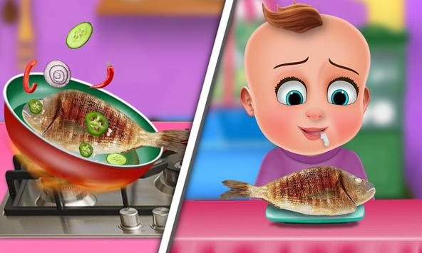 Hungry Baby - Tuto Kitchen screenshot 2