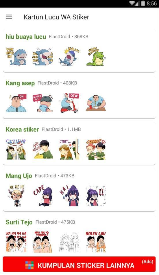 Kartun Lucu Wa Stiker For Android Apk Download