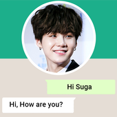 Live Chat With BTS Suga - Prank icon