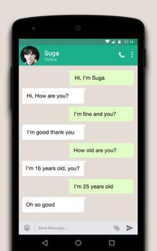 Live Chat With BTS Suga - Prank screenshot 1