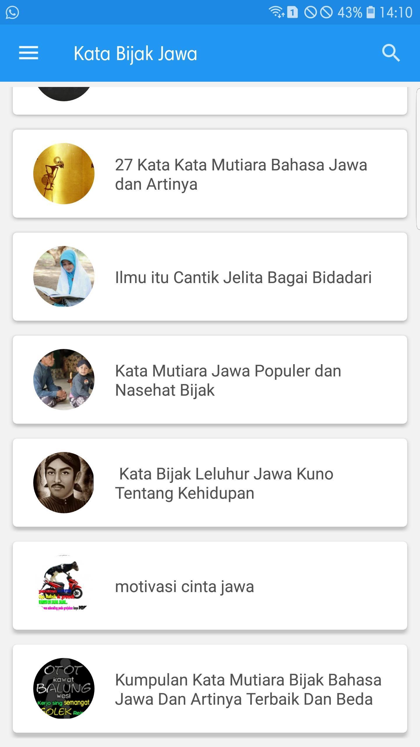 Kata Bijak Jawa For Android Apk Download
