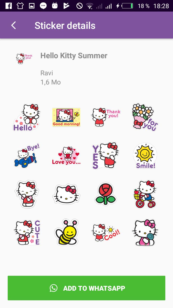 Stickers De Hello Kitty Para Whatsapp.Wastickerapps Kitty Stickers For Whatsapp For Android Apk