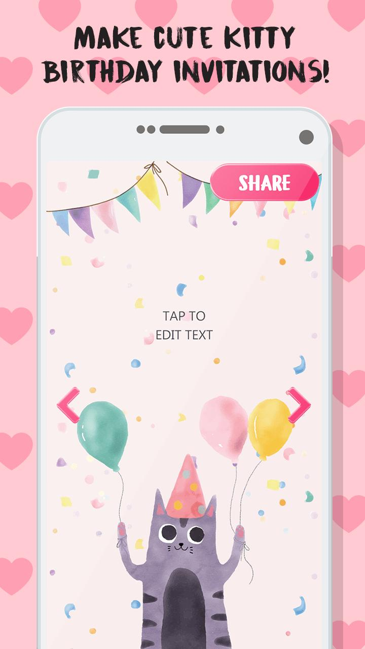 Kitty Invitation Card Maker Free For Android Apk Download