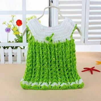 Knitted Baby Dress Design poster