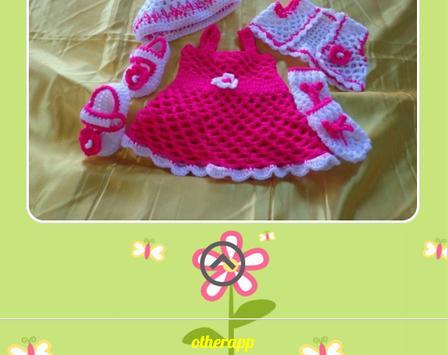 Knitted Baby Dress Design screenshot 3