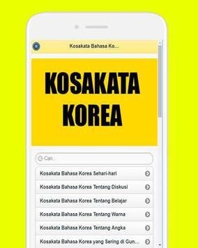 Kosakata Bahasa Korea poster