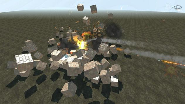 Block destruction simulator: cube rocket explosion screenshot 1