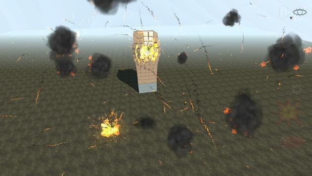 Block destruction simulator: cube rocket explosion screenshot 2