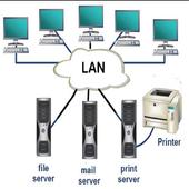 LAN installation design icon