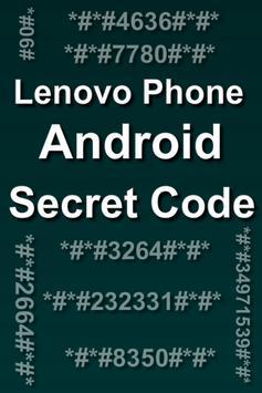 Mobiles Secret Codes of LENOVO poster