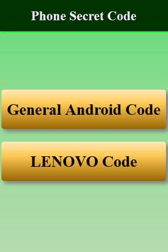 Mobiles Secret Codes of LENOVO screenshot 9