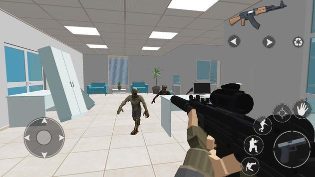 Zombie Battleground: Shooting Games Pixel FPS 3D screenshot 2