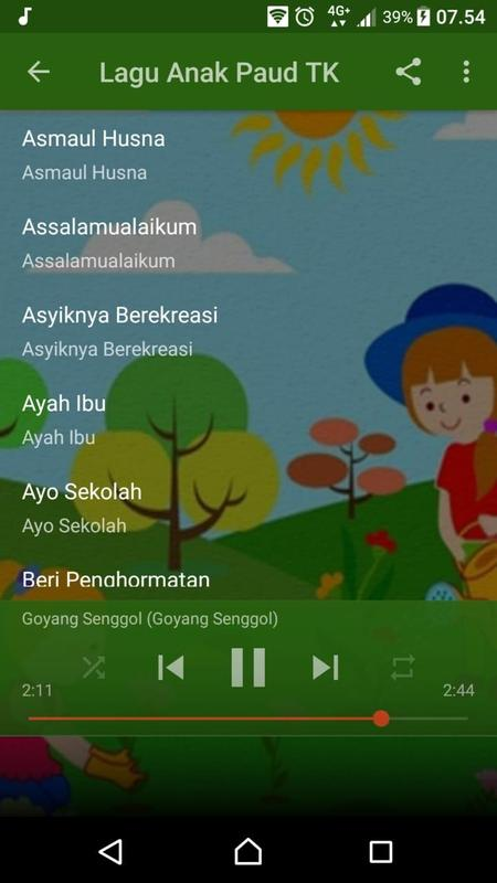 Kumpulan Lagu Anak Anak Tk Tpa Paud For Android Apk Download