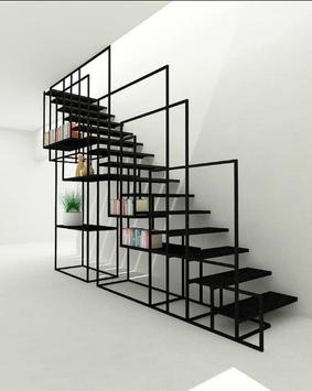 Staircase railing design poster