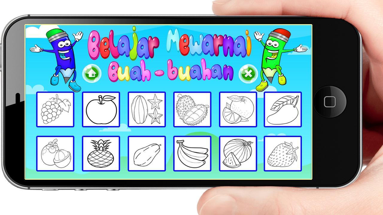 Belajar Mewarnai Buah Buahan Anak PAUD TK SD For Android