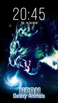 Animal Galaxy Neon Live Wallpapers poster