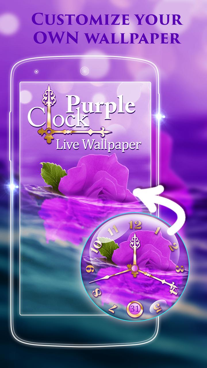 Purple Clock Live Wallpaper For Android Apk