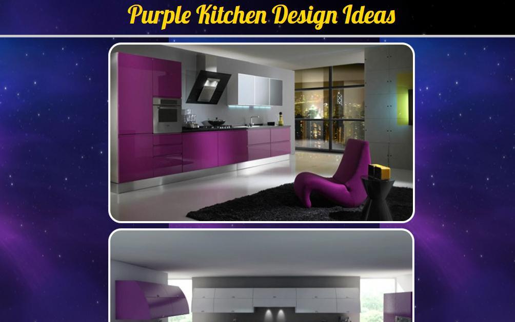 55 Koleksi Gambar Desain Dapur Warna Ungu HD Terbaik Yang Bisa Anda Tiru