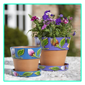 Painted Flower Pot Designs icon